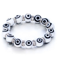 Bracelets - evil eyes bracelets murano glass evil eye beads classic black white swarovski elements Image.