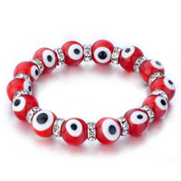 Bracelets - evil eyes bracelets glass eye beads red black swarovski evil bracelet women Image.