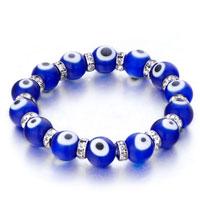 Bracelets - evil eyes bracelets eye beads sapphire blue swarovski evil murano glass bracelet Image.