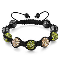 Bracelets - shambhala bracelet heidan stone bead light peach Image.
