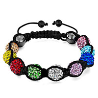 Bracelets - shambhala bracelet heidan wrist chaincolorful crystal disco ball Image.