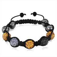 Bracelets - shambhala bracelet topaz jet black diamond crystal disco ball Image.