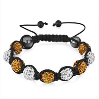 Bracelets - shambhala bracelet heidan stone bead clear topaz rhinestone disco ball Image.
