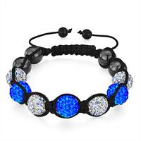 Man's Jewelry - shambhala bracelet crystal aurore boreale sapphire disco ball Image.