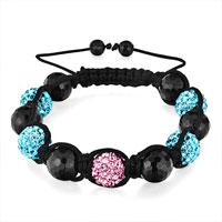 Bracelets - shambhala bracelet agate bead rose aquamarine rhinestone disco ball Image.