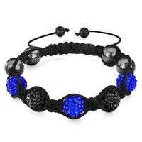Bracelets - shamballa bracelet alternate sapphire black rhinestone disco ball Image.