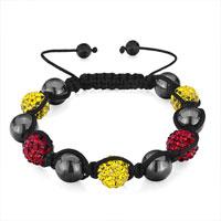 Bracelets - shamballa bracelet heidan wrist chainball red light topaz crystal Image.