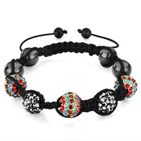 Bracelets - shamballa bracelet triple colorful disco ball heidan beads Image.