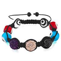 Bracelets - shamballa bracelet colorful hamsa hand evil eye murano glass Image.