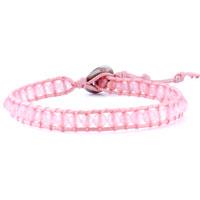 Bracelets - decorative pink, peach ribbon string bracelets Image.