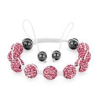 Gifts Center - shamballa bracelet october birthstone rose crystal dosco ball adjustable lace swarovski Image.
