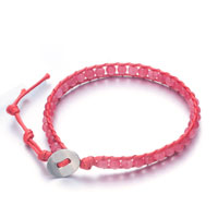 Bracelets - decorative peach ribbon string bracelets Image.