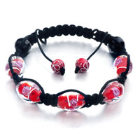 New Year Deals - shamballa bracelet red black beads adjustable lace Image.