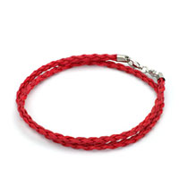 Bracelets - snake charms snake chains snake bracelets light red leather bracelet Image.