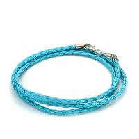 Bracelets - snake charms snake chains snake bracelets aquamarine blue leather bracelet Image.
