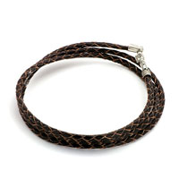 Charms Beads - snake charms snake chains snake bracelets brown leather woven wrist chain bracelet Image.