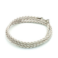 Bracelets - snake charms snake chains snake bracelets clear white leather woven wrist chain bracelet Image.