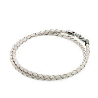 Charms Beads - snake charms snake chains snake bracelets clear white leather woven wrist chain bracelet Image.