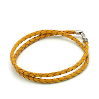 Bracelets - snake charms snake chains snake bracelets topaz yellow leather woven bracelet Image.