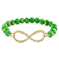 New Year Deals - classic infinity bracelet emerald green crystal beads bracelets Image.