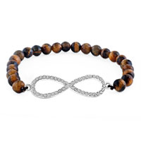 New Year Deals - classic infinity bracelet brown amber crystal beads bracelets Image.