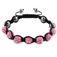 New Year Deals - shambhala bracelet light pink crystal stone balls beaded Image.