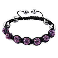 New Year Deals - shambhala bracelet amethyst purple crystal stone balls beaded Image.