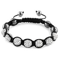New Year Deals - shambhala bracelet clear white crystal stone balls beaded Image.