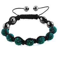 KSEB SHEB Items - shamballa bracelet emerald green crystal stone balls shamballa beaded bracelet Image.