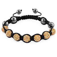New Year Deals - shambhala bracelet topaz yellow crystal stone balls beaded Image.
