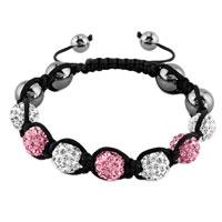 New Year Deals - shambhala bracelet clear white light pink crystal stone Image.