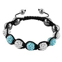 New Year Deals - shambhala bracelet clear white aquamarine blue crystal Image.