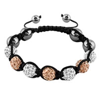 New Year Deals - shambhala bracelet clear white topaz yellow crystal Image.