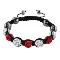 New Year Deals - shambhala bracelet clear white light red crystal Image.