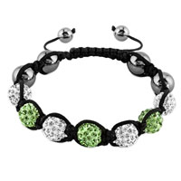 New Year Deals - shambhala bracelet clear white peridot green crystal stone Image.