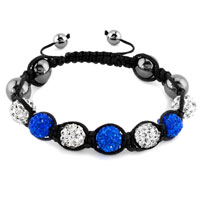 New Year Deals - shambhala bracelet clear white sapphire blue crystal stone Image.