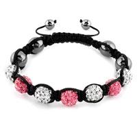 New Year Deals - shambhala bracelet clear white rose pink crystal stone Image.