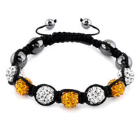 New Year Deals - shambhala bracelet clear white limon yellow crystal Image.