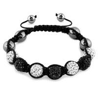 New Year Deals - shambhala bracelet clear white classic black crystal stone Image.