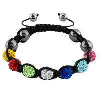 New Year Deals - shambhala bracelet multicolor crystal stone balls beaded Image.