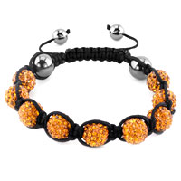 Bracelets - shambhala bracelets yellow crystal stone balls adjustable lace bracelet Image.