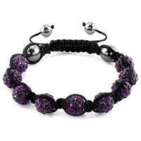 KSEB SHEB Items - shambhala bracelets amethyst purple crystal stone balls adjustable lace bracelet Image.