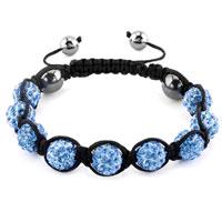 KSEB SHEB Items - shambhala bracelets aquamarine blue crystal stone balls adjustable lace bracelet Image.