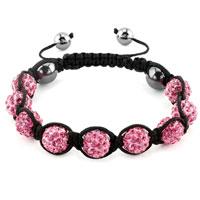 KSEB SHEB Items - shambhala bracelets light red crystal stone balls adjustable lace bracelet Image.