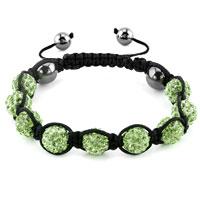 KSEB SHEB Items - shambhala bracelets peridot green crystal stone balls adjustable lace bracelet Image.
