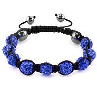 KSEB SHEB Items - shambhala bracelets sapphire blue crystal stone balls adjustable lace bracelet Image.