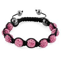 KSEB SHEB Items - shambhala bracelets rose pink crystal stone balls adjustable lace bracelet Image.