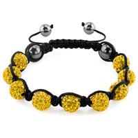 KSEB SHEB Items - shambhala bracelets topaz yellow crystal stone balls adjustable lace bracelet Image.