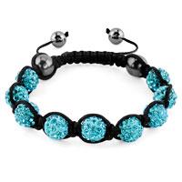 KSEB SHEB Items - shambhala bracelets blue topaz crystal stone balls adjustable lace bracelet Image.