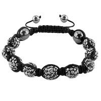 KSEB SHEB Items - shambhala bracelets gray crystal stone balls adjustable lace bracelet Image.
